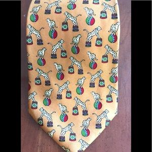 Brooks Brothers Circus Print w/ Leopards Silk Tie